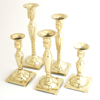 BRASS CANDLESTICKS ASST - 5 pcs set