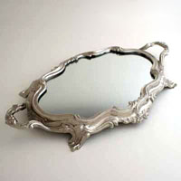 NICKEL TRAY WITH MIRROR