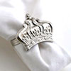 NICKEL CROWN NAPKIN RING - 4 pcs set