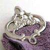 NICKEL VICTORIAN CLIP - 3 pcs set