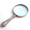 NICKEL MAGNIFYING GLASS - 3 pcs set