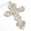 NICKEL LG CROSS ORNAMENT - 6 pcs set