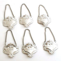 NICKEL BOTTLE EMBLEMS - 6 pcs set