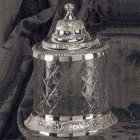 SILVER JAR WITH COVER